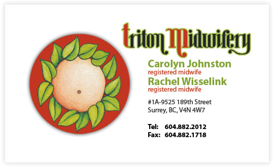 Triton Midwifery business card design
