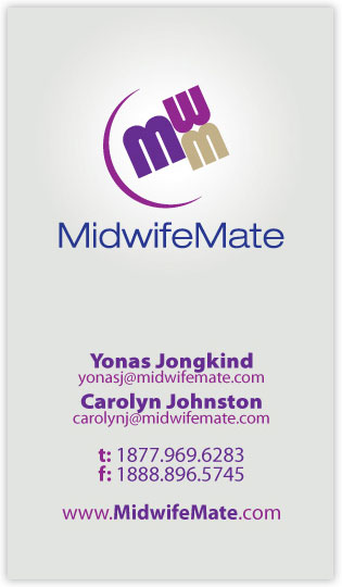 Midwife Mate business card design front