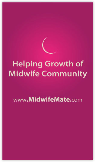 Midwie Mate business card design back