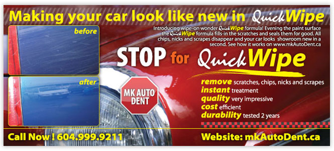 mk auto dent graphic design flyer